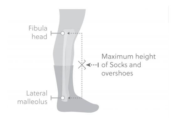 Kolesarjem merili višino nogavic
