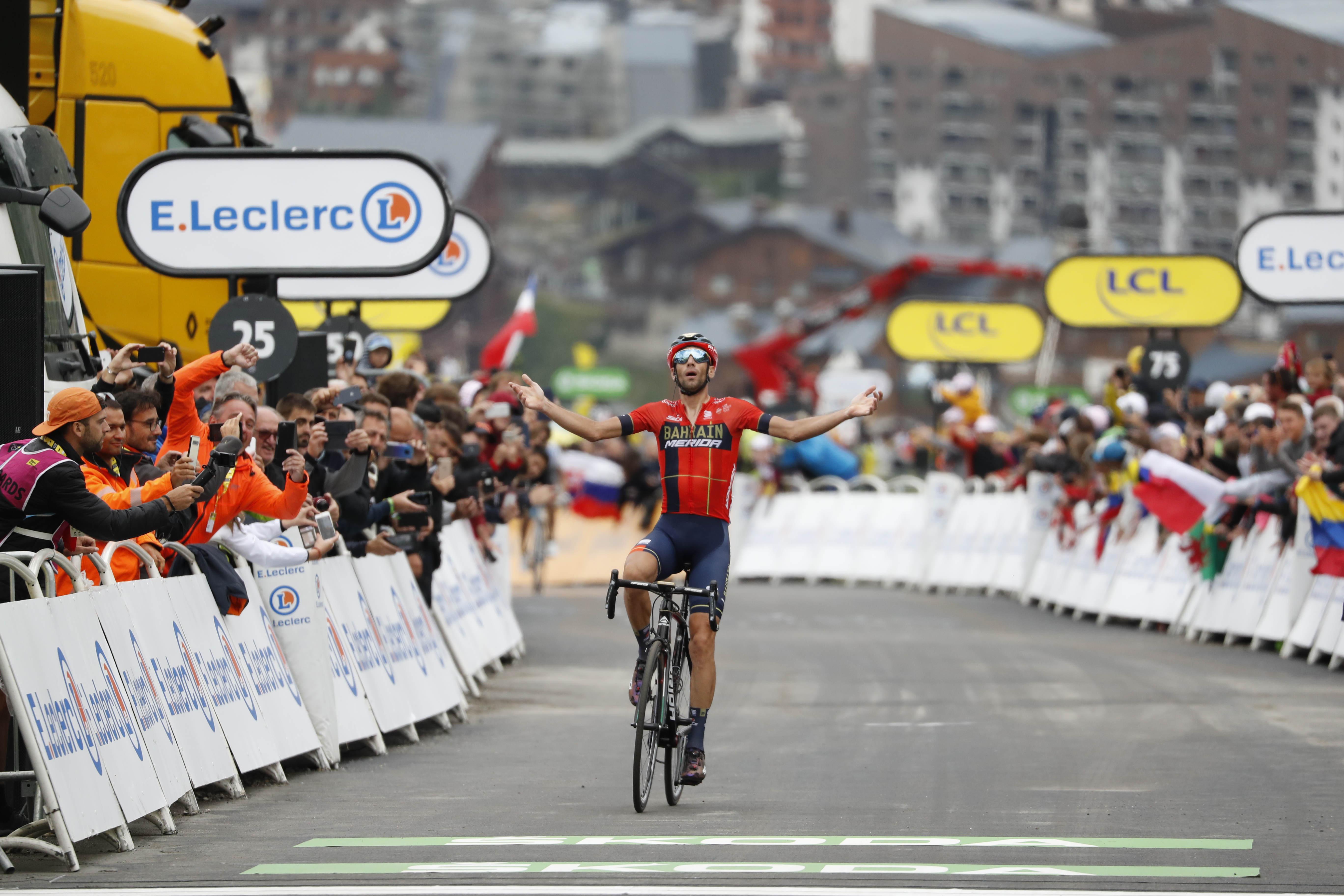 Vincenzo Nibali do zmage, Egan Bernal potrdil premoč