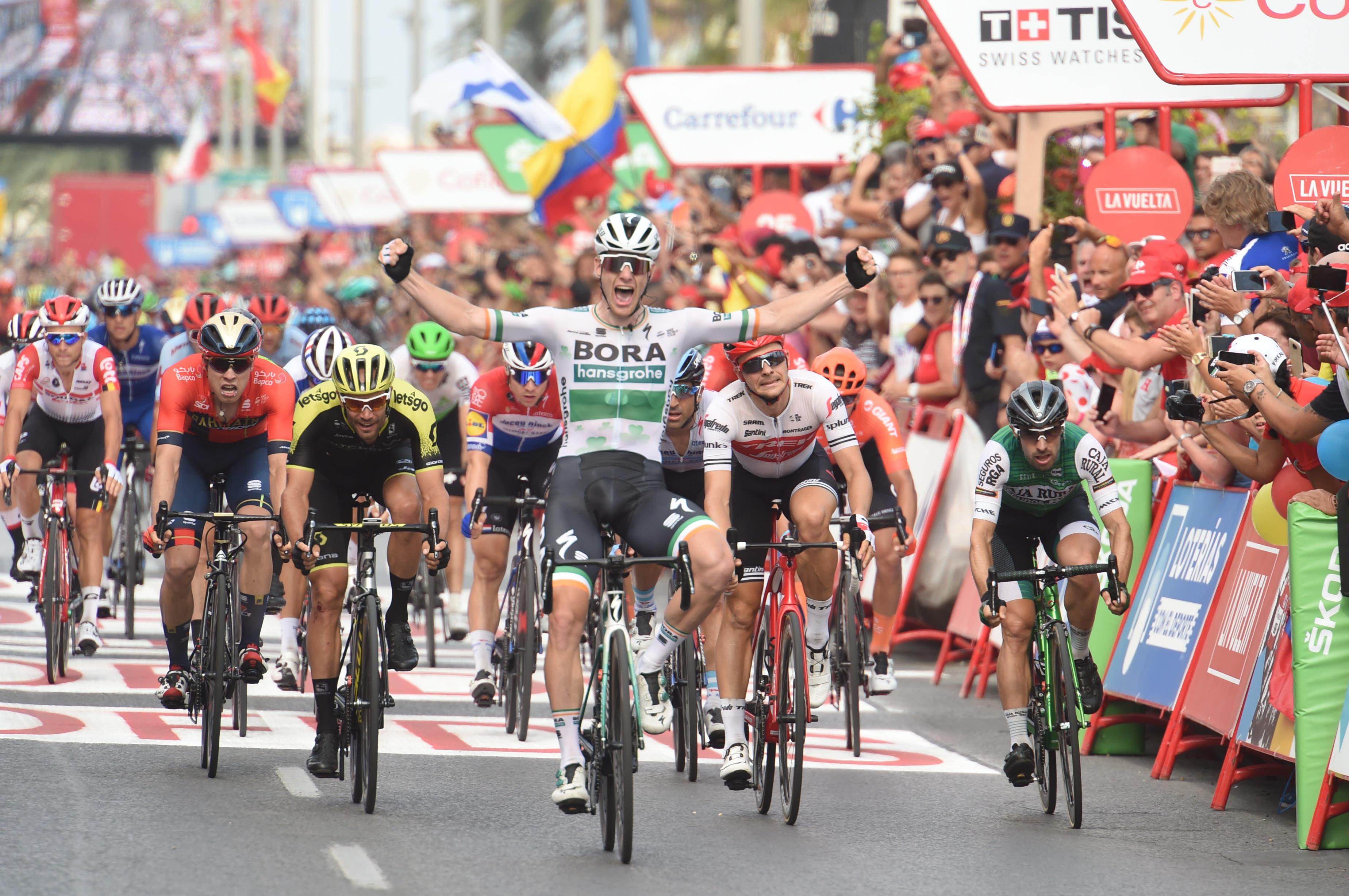 Luka Mezgec z izjemnim sprintom iz ozadja do tretjega mesta