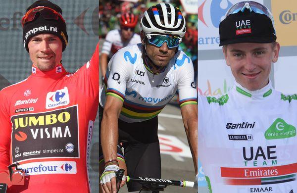 Odzivi najboljših treh: Roglič, Valverde in Pogačar