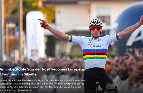 V Italiji spet izjemni Van Der Poel. Prvič tudi Slovenci