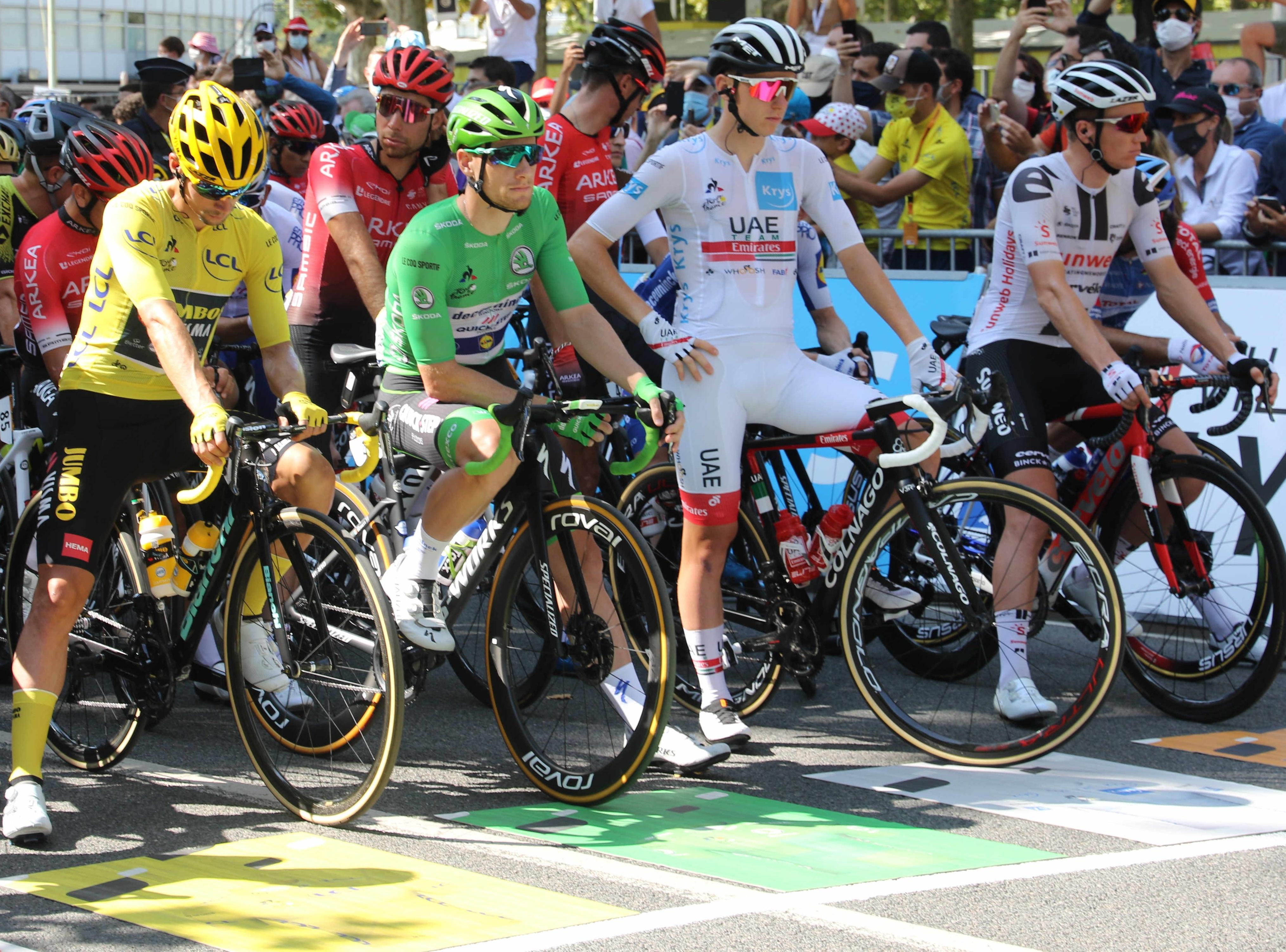Znamke koles in opreme ekip na dirki po Franciji