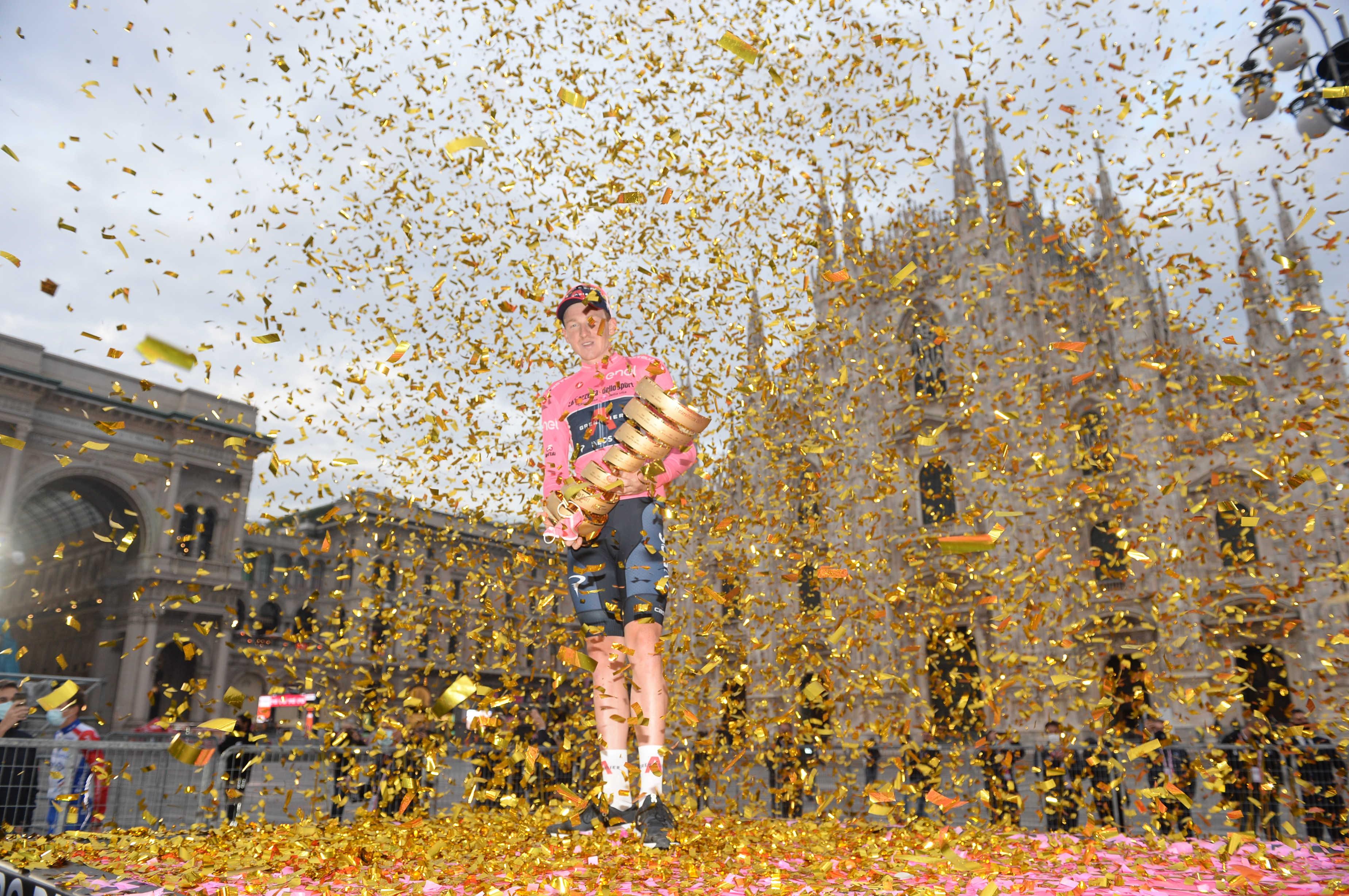 Tao Geoghegan Hart v Milanu potrdil zmago na Giru! (FOTO)