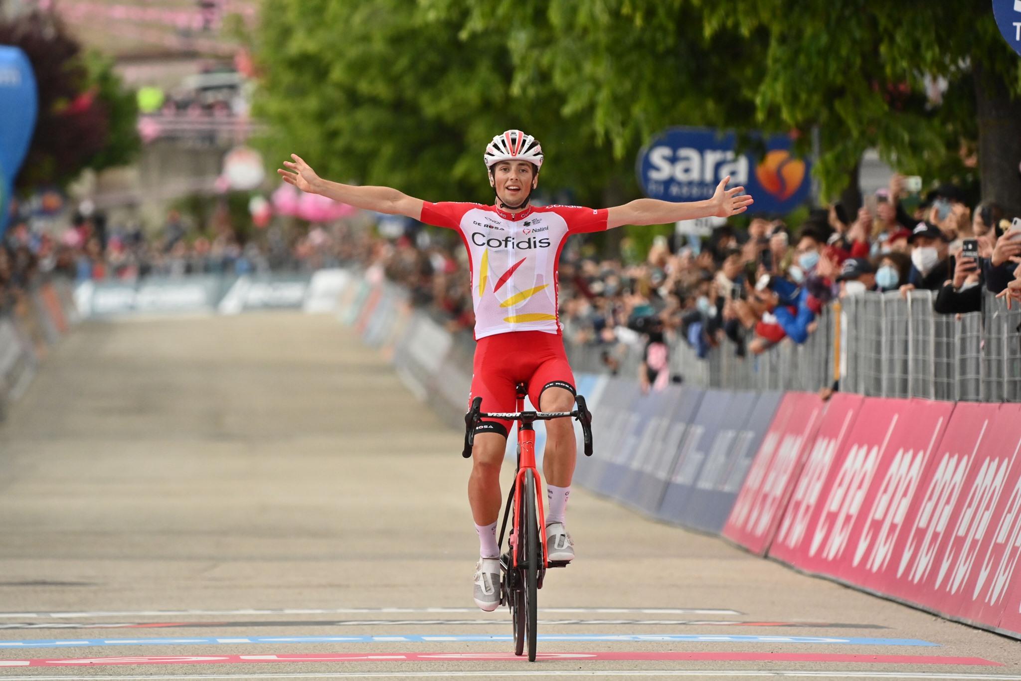 Lafay privozil prvo zmago Cofidisa v svetovni seriji po več kot letu in pol, Ewan zapustil Giro