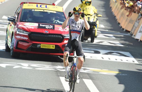 Matej Mohorič pred cestno dirko